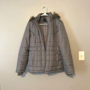 Faded glory grey winter coat women's